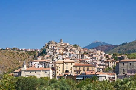 Panoramic view of Scalea  Calabria  Italy