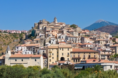 Panoramic view of Scalea. Calabria. Italy. photo