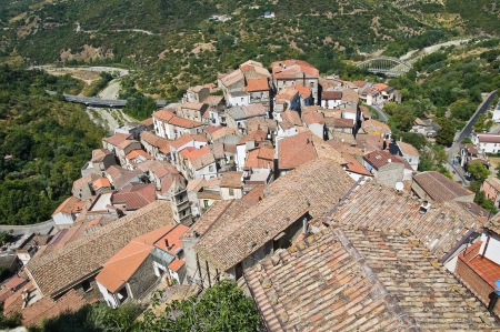 Panoramic view of Valsinni. Basilicata. Italy.  Stock Photo - 16505452