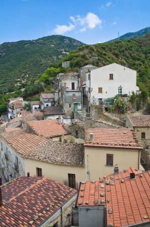 urbanistic: Panoramic view of Valsinni. Basilicata. Italy.