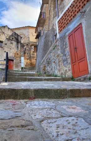 Alleyway. Valsinni. Basilicata. Italy.  Stock Photo - 16505463