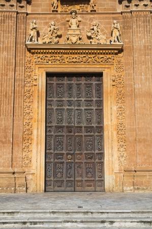wood panelled: Sanctuary of Holy Crucifix. Galatone. Puglia. Italy.