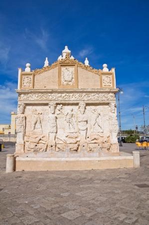 Greek fountain. Gallipoli. Puglia. Italy.