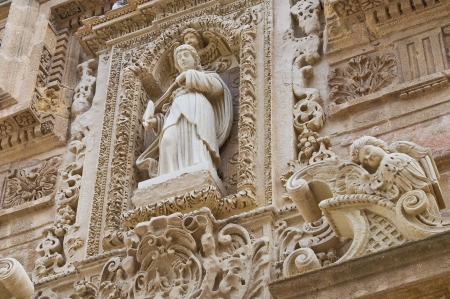 Basilica Cathedral of St  Agata  Gallipoli  Puglia  Italy   photo
