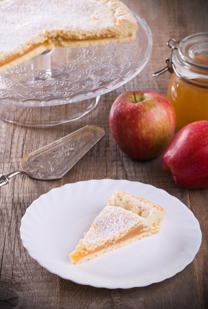 Apple jam tart.  photo