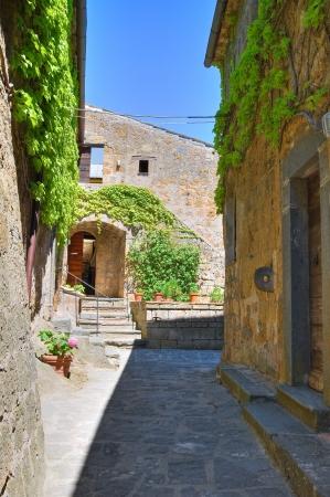 tuscia: Alleyway. Civita di Bagnoregio. Lazio. Italy.