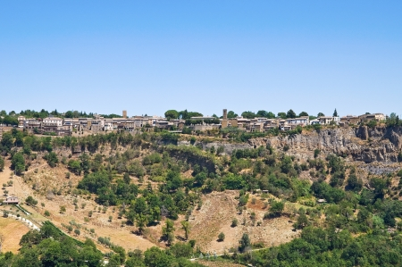 Panoramic view of Civita di Bagnoregio. Lazio. Italy. photo