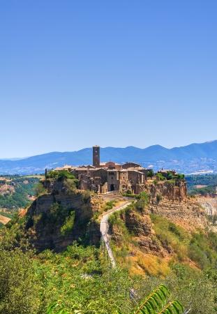Panoramic view of Civita di Bagnoregio. Lazio. Italy. Stock Photo - 16817934