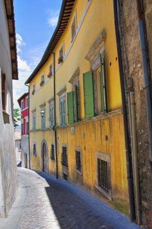 etrurian: Alleyway. Narni. Umbria. Italy. Stock Photo