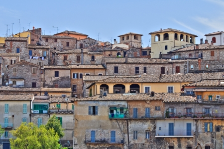 urbanistic: Panoramic view of Narni. Umbria. Italy.