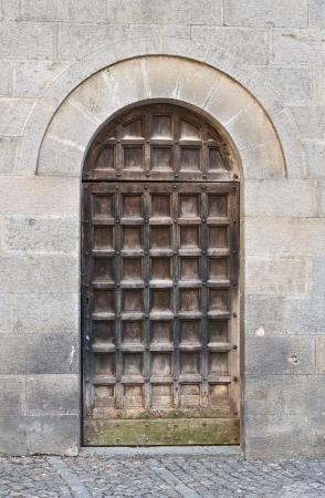 wood panelled: Church of St  Andrea  Orvieto  Umbria  Italy   Stock Photo