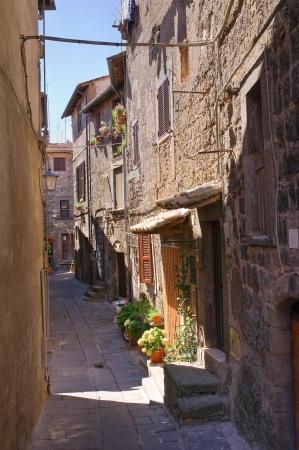 Alleyway. Bagnaia. Lazio. Italy.  Stock Photo - 16920204