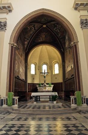 etrurian: Cathedral of St. Margherita.Tarquinia. Lazio. Italy. Editorial