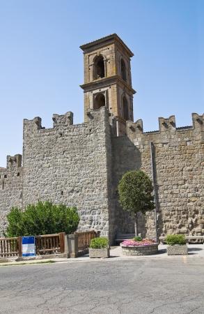 vitorchiano: Fortified walls. Vitorchiano. Lazio. Italy.  Editorial