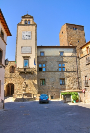 Town Hall Building. Vitorchiano. Lazio. Italy. Stock Photo - 16950091