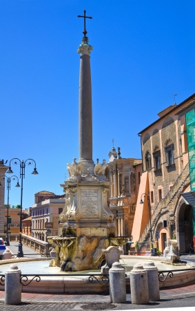 monumental: Monumental fountain  Tarquinia  Lazio  Italy   Stock Photo