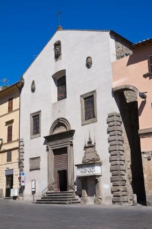 etrurian: Church of St. Angelo in Spatha. Viterbo. Lazio. Italy. Stock Photo