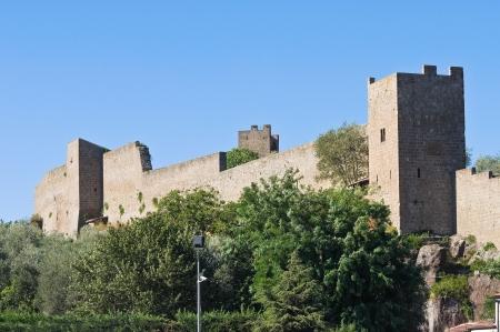 tuscia: Fortified walls  Viterbo  Lazio  Italy
