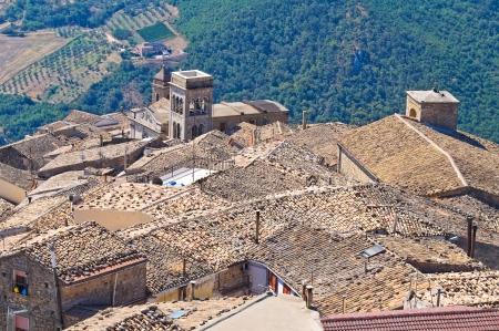 daunia: Panoramic view of Santagata di Puglia  Puglia  Italy