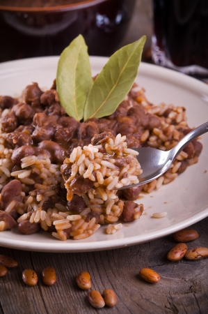 Rice and beans  photo