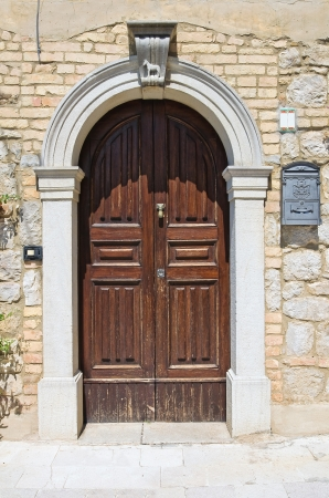 Wooden door  Santagata di Puglia  Puglia  Italy  photo