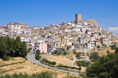 Panoramic view of Deliceto. Puglia. Italy. Imagens - 17300523