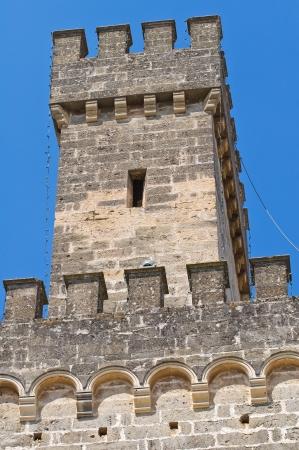 urbanistic: Acquaviva castle. Nardo. Puglia. Italy.