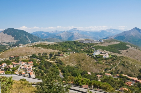 Panoramic view of Maratea. Basilicata. Italy. photo