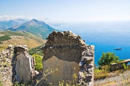maratea: Ruins castle. Maratea. Basilicata. Italy.