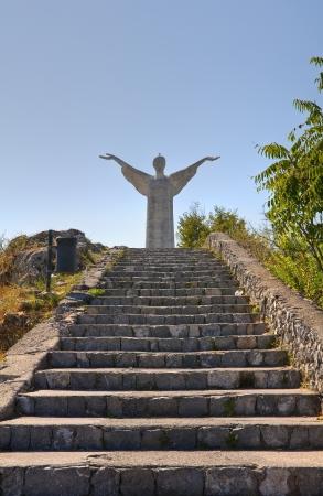 maratea: Christ the Redeemer of Maratea. Basilicata. italy. Stock Photo