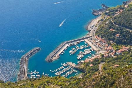 basilicata: Panoramic view of Maratea. Basilicata. Italy. Stock Photo