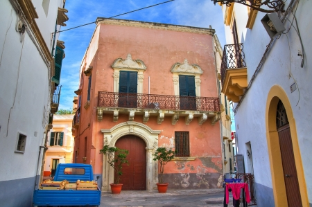 urbanistic: Alleyway  Gallipoli  Puglia  Italy  Editorial