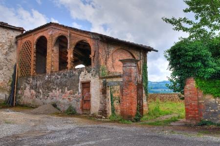 haymow: Barn. Castle of Agazzano. Emilia-Romagna. Italy.