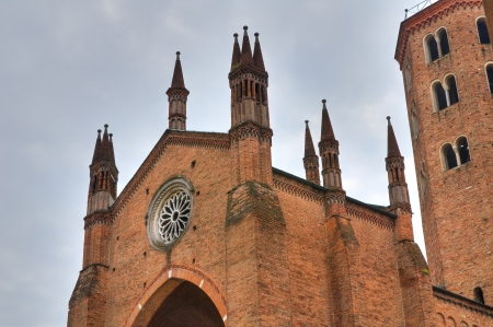 ecclesiastical: Basilica of St  Antonino  Piacenza  Emilia-Romagna  Italy   Stock Photo