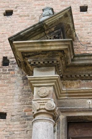 piacenza: Iglesia del Santo Sepulcro Piacenza Emilia-Romagna Italia Foto de archivo