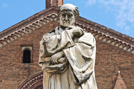 piacenza: Gian Domenico Romagnosi Statue Piacenza  Emilia-Romagna  Italy
