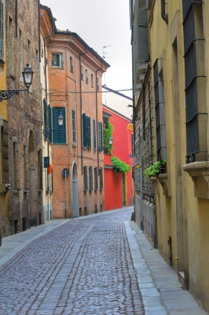 piacenza: Callej�n Piacenza Emilia-Romagna Italia Foto de archivo