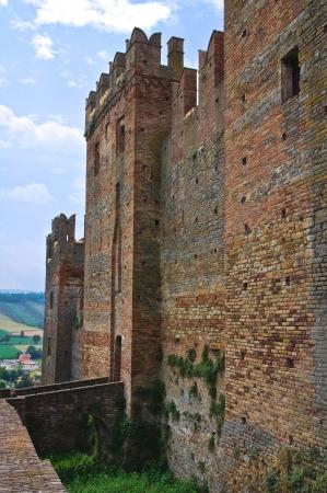 urbanistic: Castle of Castellarquato  Emilia-Romagna  Italy Editorial