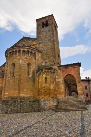 collegiate: Collegiate Church of Castellarquato  Emilia-Romagna  Italy  Stock Photo