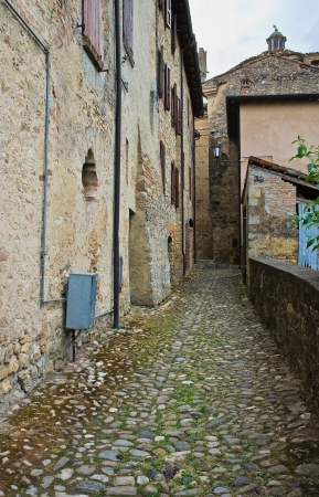 Alleyway  Vigoleno  Emilia-Romagna  Italy   Stock Photo - 17748039