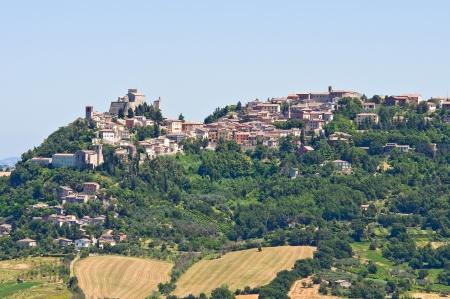 Panoramic view of San Marino Emilia-Romagna Italy