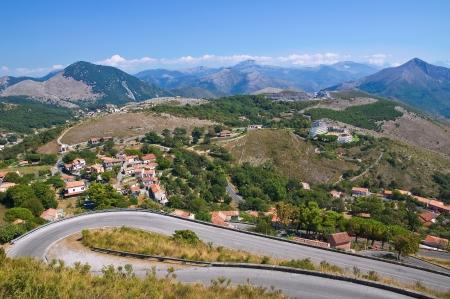 maratea: Panoramic view of Maratea. Basilicata. Italy. Stock Photo