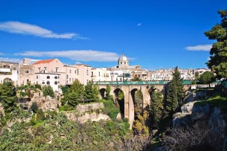 Panoramic view of Massafra. Puglia. Italy.