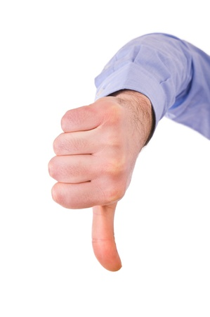 Thumbs down  Stock Photo - 18459817