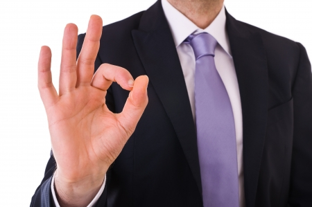 Business man showing ok sign  photo