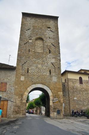 bevagna: Porta Cannara  Bevagna  Umbria  Italy  Stock Photo
