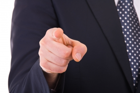 dedo apuntando: De negocios que señala con el dedo
