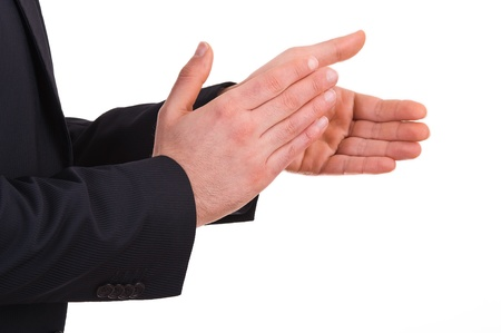 Businessman clapping his hands  photo