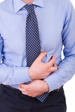 Uomo d'affari che soffrono di mal di stomaco