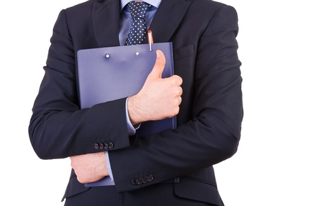 Businessman holding a clipboard  photo